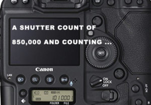 Camera Shutter Count of 850,000